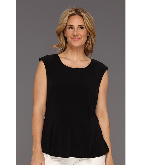 Bluze Calvin Klein - Plus Size Solid Peplum Top - Black