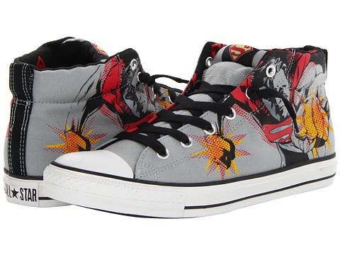 Adidasi Converse - Chuck Taylorî All Starî Street Mid - DC Comicsâ⢠- Limestone/Varsity Red/Cyber Yellow