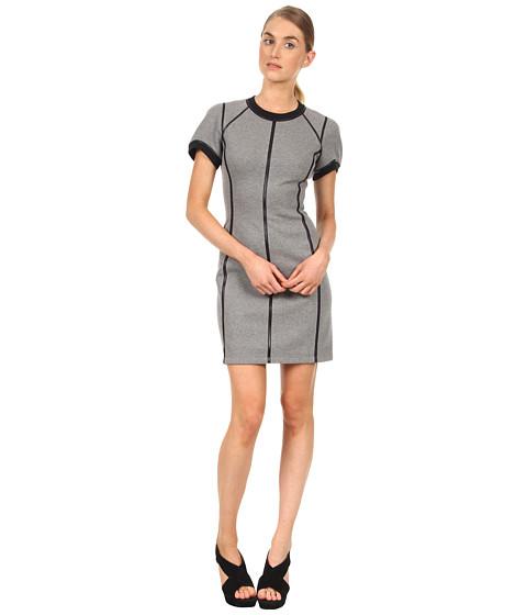 Rochii Theory - Nevassa Dress - Heather Grey/Black