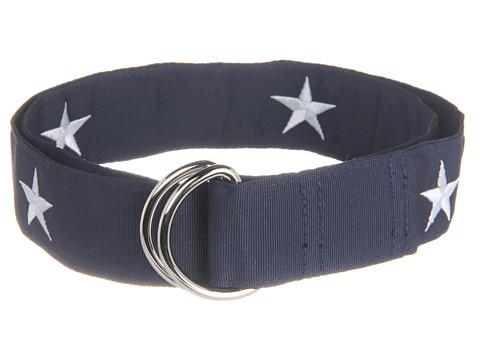 Curele Vineyard Vines - Star Embroidered Belt - Blue Blazer
