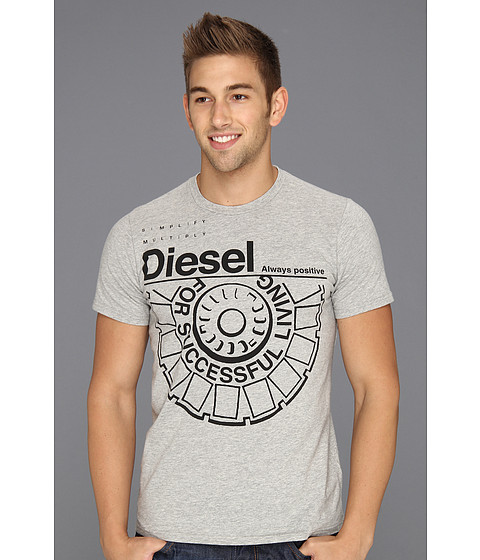 Tricouri Diesel - T-Ballock-R Tee - Heather/Grey