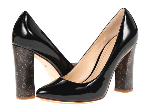 Pantofi Cole Haan - Chelsea Block Heel Pump - Black Patent Ring Lizard Print