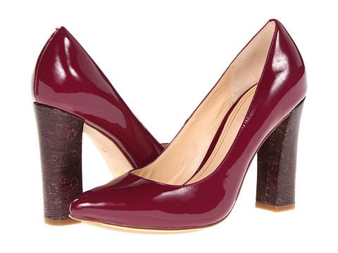 Pantofi Cole Haan - Chelsea Block Heel Pump - Winery Patent/Ring Lizard Print
