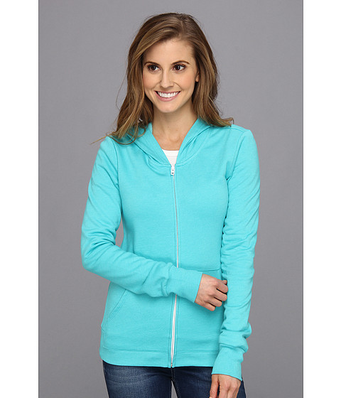 Bluze Hurley - Solid Slim Fleece Zip Hoodie - Heather Bright Aqua