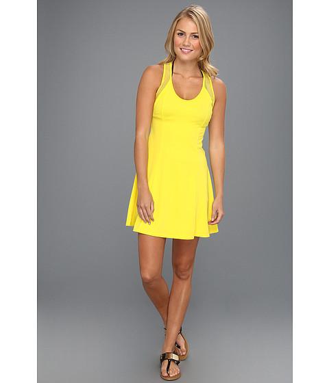 Costume de baie DKNY - Bold Mix Racerback & Short Cover Up Dress W/ Mesh Detail - Bitter Lemon