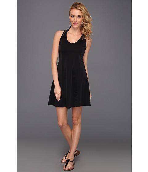 Rochii DKNY - Bold Mix Racerback & Short Cover Up Dress W/ Mesh Detail - Black