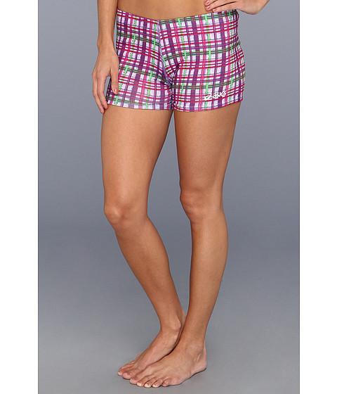 Pantaloni ASICS - Plaid Short - Pink/Forest