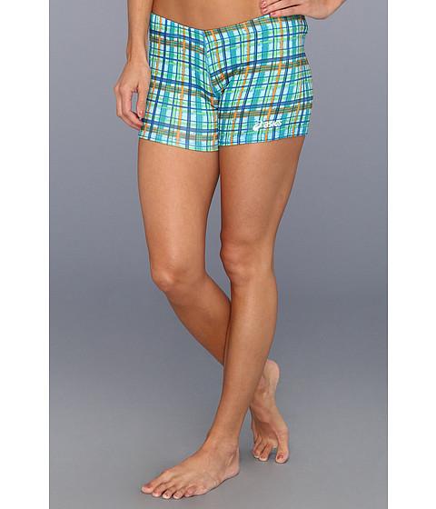 Pantaloni ASICS - Plaid Short - Teal/Orange