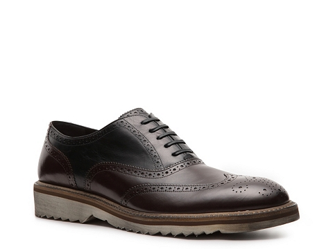 Pantofi D&G - Leather Wingtip Oxford - Chocolate Brown