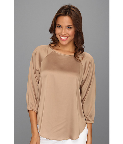 Bluze Nine West - Charmeuse 3/4 Sleeve Blouse - Camel