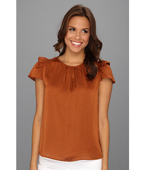 Bluze Nine West - Charmeuse Short Sleeve Cami - Amber