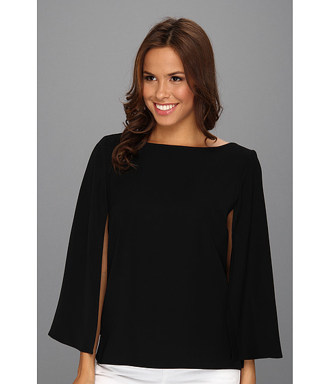 Bluze Nine West - Crepe Wide Sleeve Blouse - Black