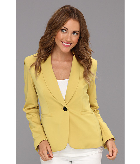 Jachete Nine West - Light Weight Ponte Shawl Jacket - Citrine