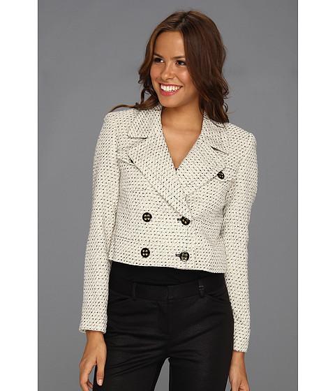 Jachete Nine West - Light Weight Tweed Jacket - Ivory/Black