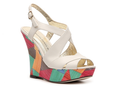 Sandale Adrianna Papell Boutique - Lacey Wedge Sandal - Ivory