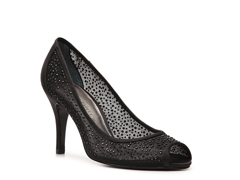 Pantofi Adrianna Papell Boutique - Fiona Peep Toe Pump - Black