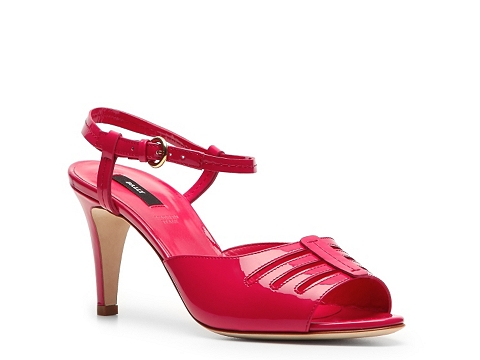 Sandale Bally - Cannock Patent Leather Peep Toe Sandal - Pink