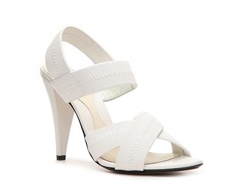 Sandale Bally - Linsey Leather Peep Toe Sandal - White