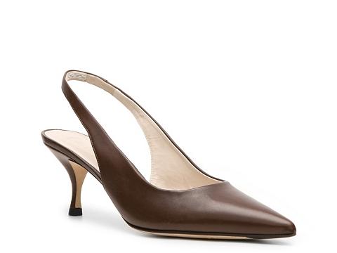 Pantofi Bally - Fiella Leather Slingback Pump - Chocolate Brown