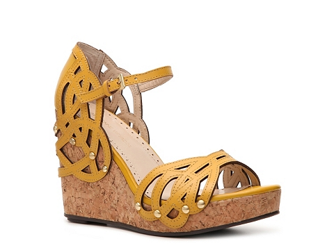 Sandale Adrienne Vittadini - Clementine Wedge Sandal - Yellow