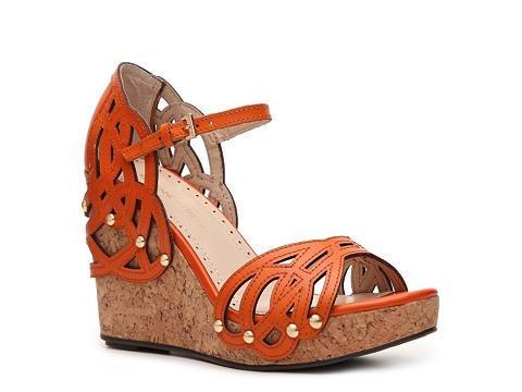 Sandale Adrienne Vittadini - Clementine Wedge Sandal - Orange