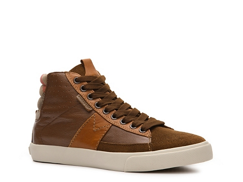 Adidasi Burberry - Stamford Leather Sneaker - Brown