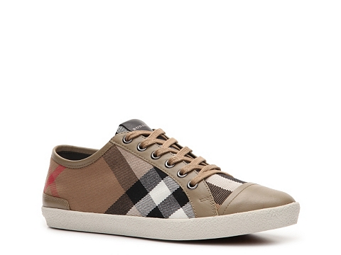 Adidasi Burberry - House Check Fabric Cap Toe Sneaker - Taupe