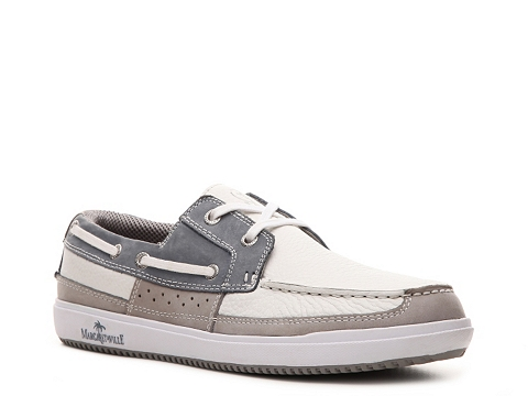 Pantofi Margaritaville - Anguilla Boat Shoe - White/Grey/Light Blue