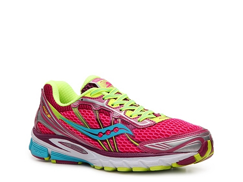 Adidasi Saucony - ProGrid Ride 5 Lightweight Running Shoe - Womens - Pink/Yellow/Blue/Silver/White