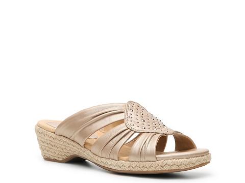 Pantofi Softspots - Audrina Wedge Sandal - Champagne