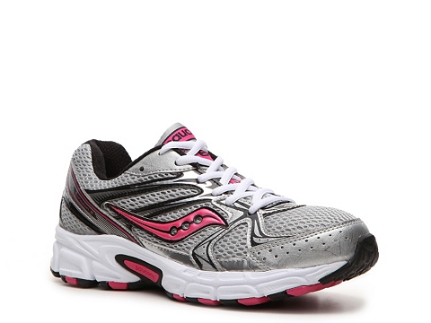 Adidasi Saucony - Cohesion 6 Lightweight Running Shoe - Womens - Grey/Pink/Black/White
