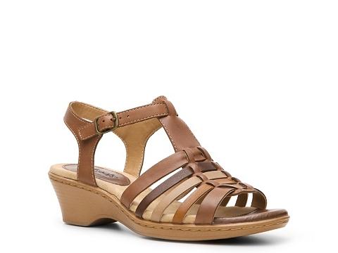 Pantofi Softspots - Heidi Wedge Sandal - Brown