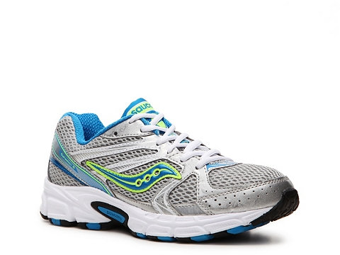 Adidasi Saucony - Cohesion 6 Lightweight Running Shoe - Womens - Silver/Blue/Lime Green/White