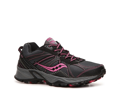 Adidasi Saucony - Grid Excursion TR 7 Trail Running Shoe - Womens - Black/Pink/Grey