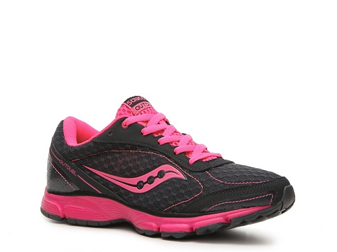 Adidasi Saucony - Grid Outduel Lightweight Running Shoe - Womens - Charcoal Grey/ Neon Pink