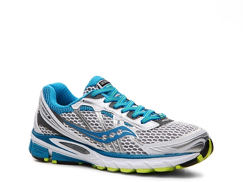 Adidasi Saucony - ProGrid Ride 5 Lighweight Running Shoe - Womens - White/Blue/Silver/Grey/Lime Green