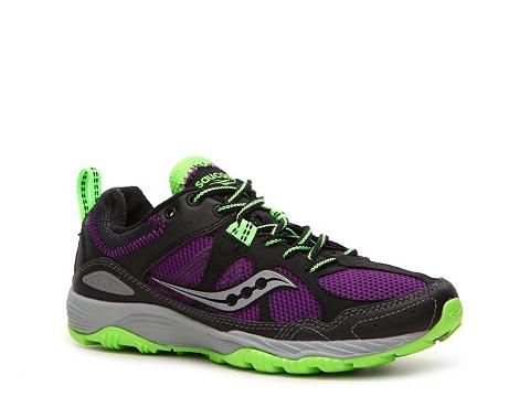 Adidasi Saucony - Adapt Trail Running Shoe - Womens - Black/Purple/Grey/Green