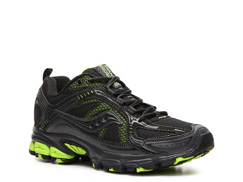 Adidasi Saucony - Grid Excursion TR6 Trail Running Shoe - Womens - Black/Lime Green/Neon Yellow
