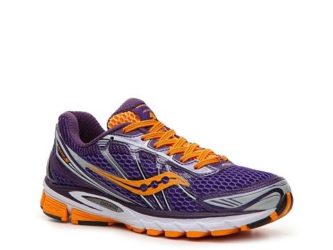 Adidasi Saucony - ProGrid Ride 5 Lightweight Running Shoe - Womens - Purple/Orange/Grey/White