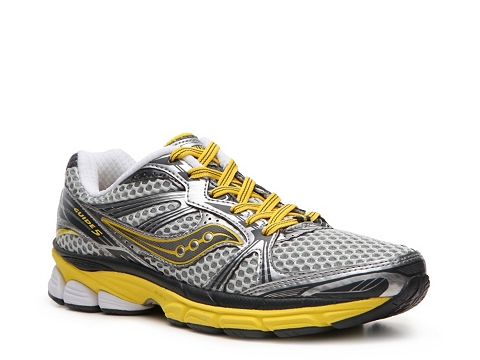 Adidasi Saucony - ProGrid Guide 5 Performance Running Shoe - Womens - Grey/Yellow/Silver