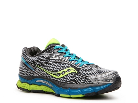 Adidasi Saucony - Triumph 9 Lightweight Running Shoes - Womens - Grey/Silver/Blue/Lime Green/Black