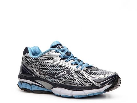 Adidasi Saucony - PowerGrid Hurricane 14 Performance Running Shoe - Womens - Grey/Blue/Silver/White