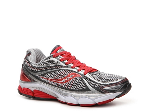 Adidasi Saucony - ProGrid Omni 11 Lightweight Running Shoe - Womens - Grey/Red/Silver/White