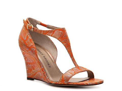 Sandale Audrey Brooke - Trisha Wedge Sandal - Orange
