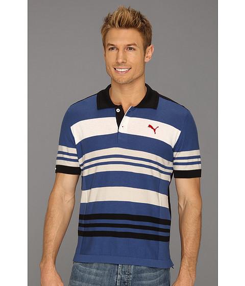 Tricouri PUMA - AC S/S Captain Polo - True Blue-Striped Combo