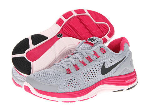 Adidasi Nike - Lunarglide+ 4 - Wolf Grey/Pink Force/Pearl Pink/Anthracite