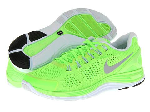 Adidasi Nike - Lunarglide+ 4 - Electric Green/Reflective Silver/Blue Tint