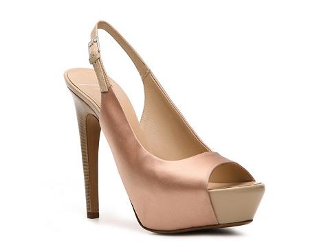 Pantofi Giuseppe Zanotti - Satin Slingback Pump - Nude