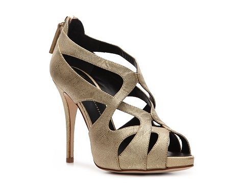 Pantofi Giuseppe Zanotti - Metallic Leather Caged Sandal - Gold