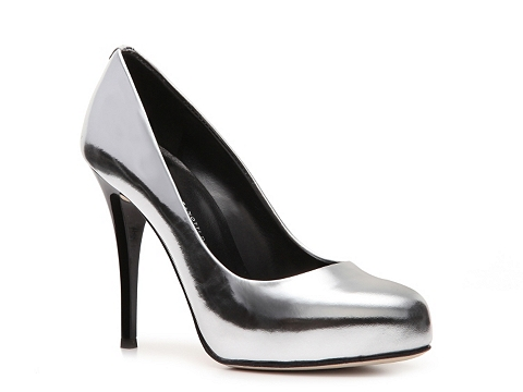 Pantofi Giuseppe Zanotti - Metallic Patent Leather Pump - Silver